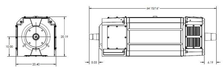 GEQ DRILLMAX600 Motor Dimensions