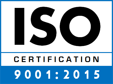 We're now ISO 9001:2015 certified