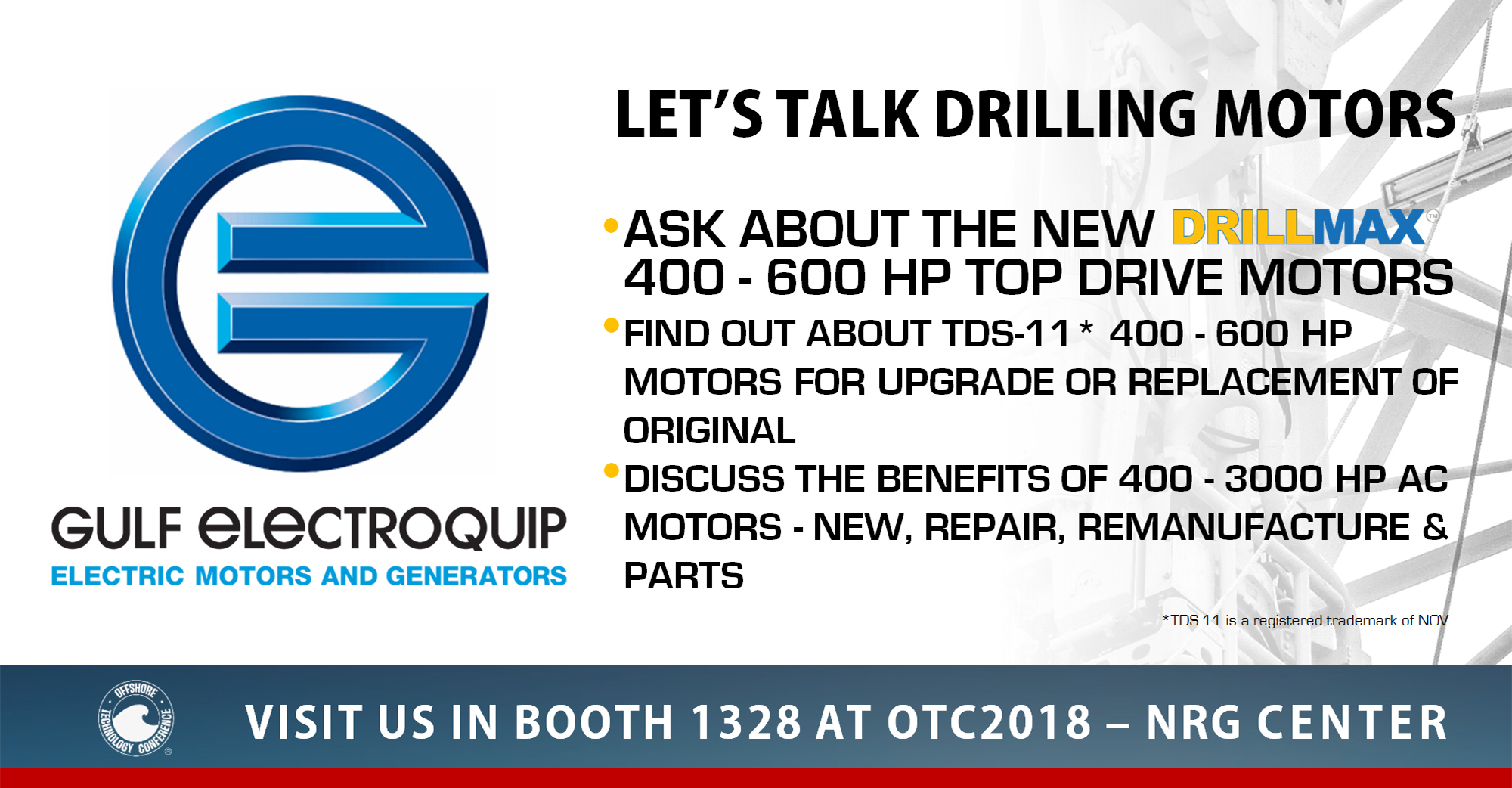 OTC 2018 Booth 1328 – April 30-May 3, 2018