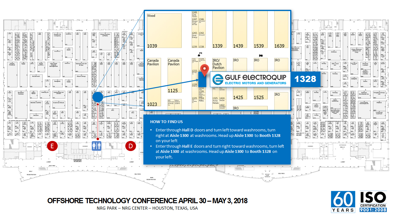 Gulf Electroquip is in Booth 1328 at OTC2018
