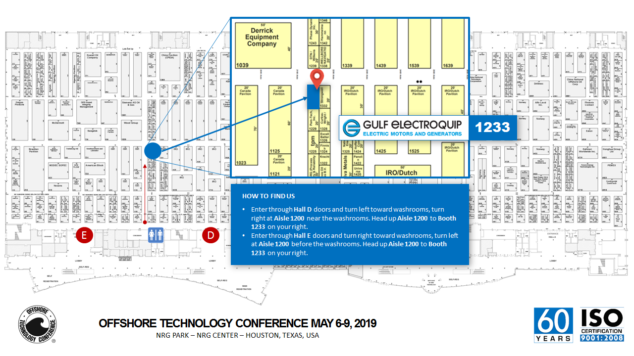 Gulf Electroquip is in Booth 1233 at OTC2019