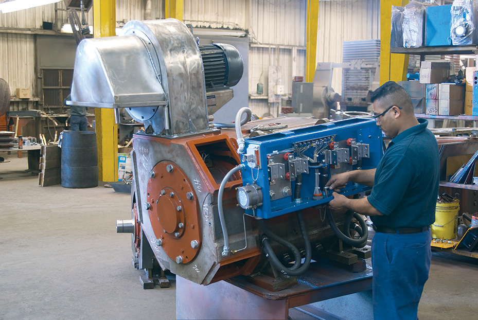 Installation of all new parts and repaint for ge drilling motor