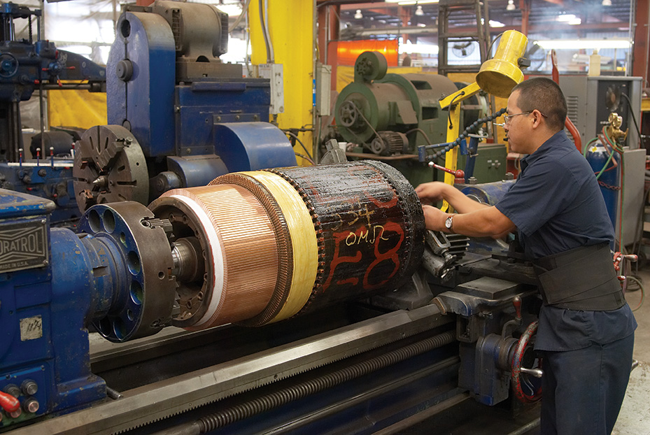 Remachining drilling motor to factory specifications